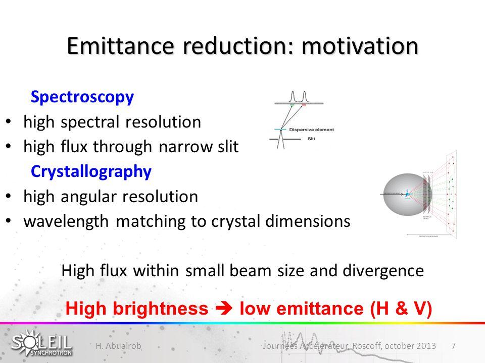 Emittance reduction: motivation