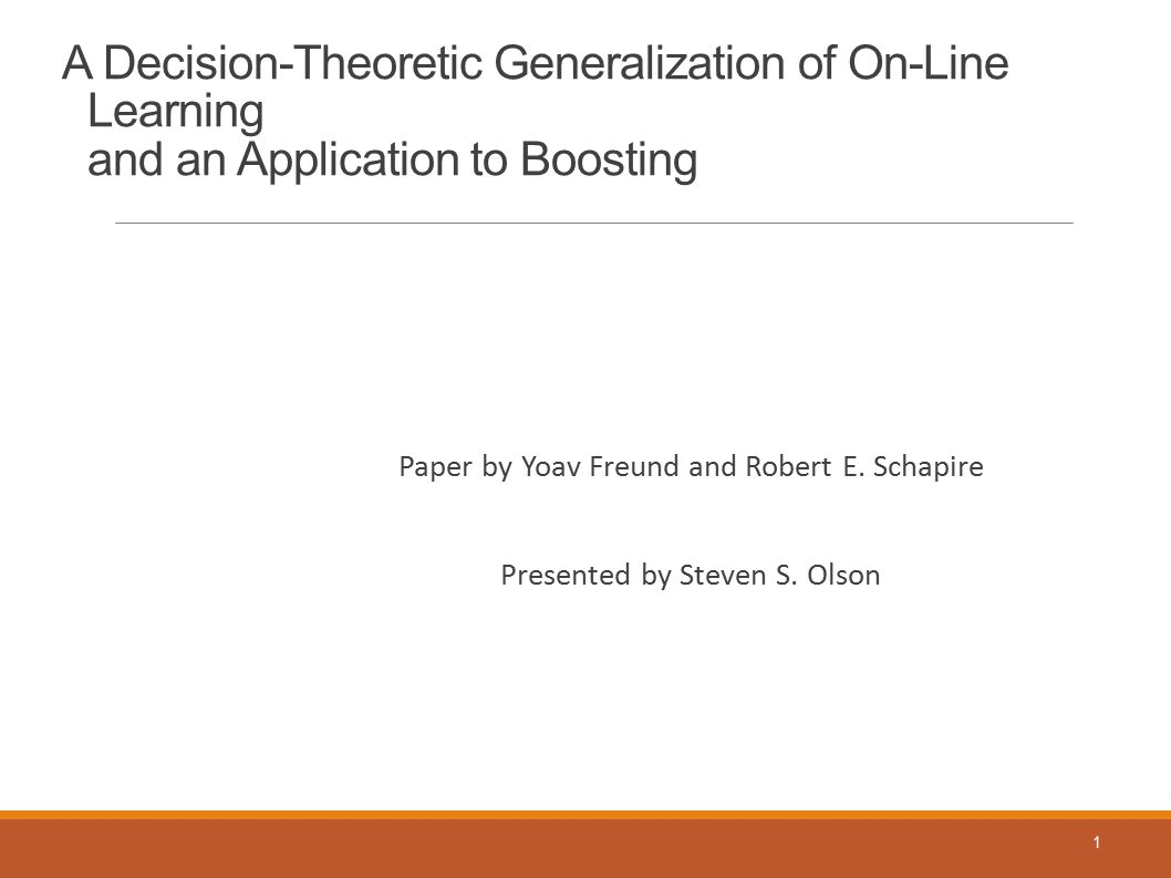 A Decision-Theoretic Generalization of On-Line Learning and an Application to Boosting