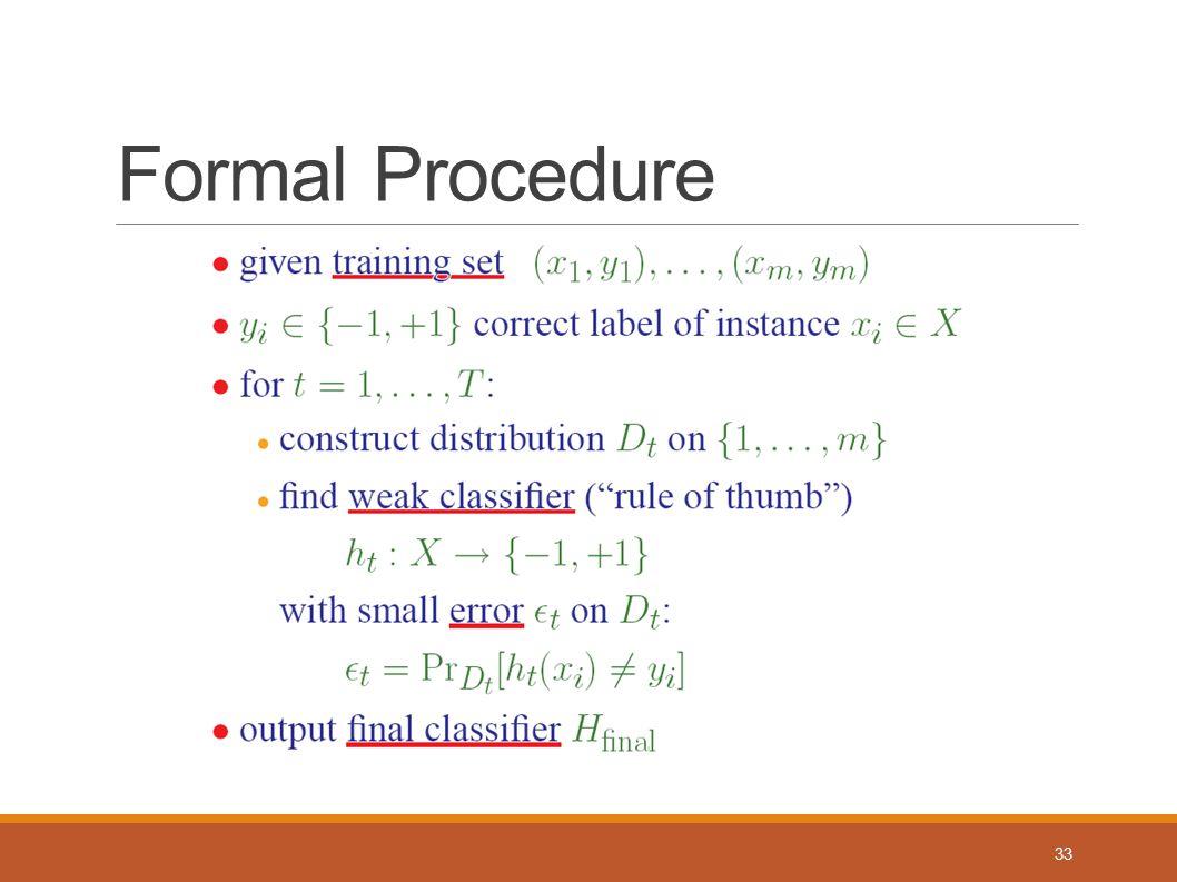 Formal Procedure