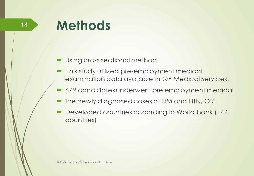 Methods Using cross sectional method,