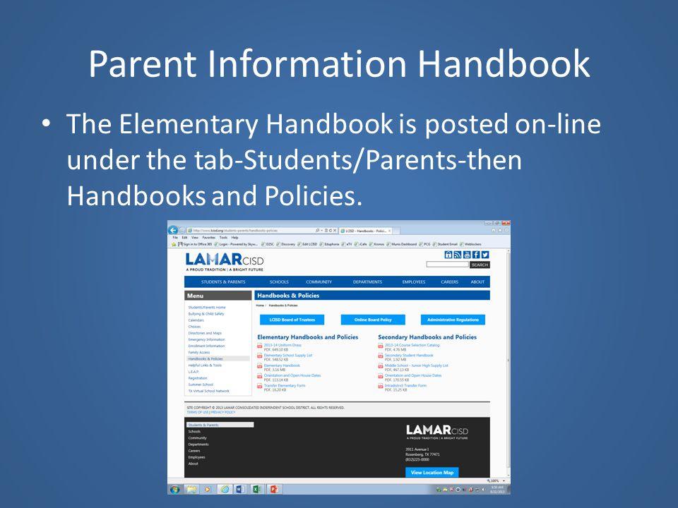 Parent Information Handbook