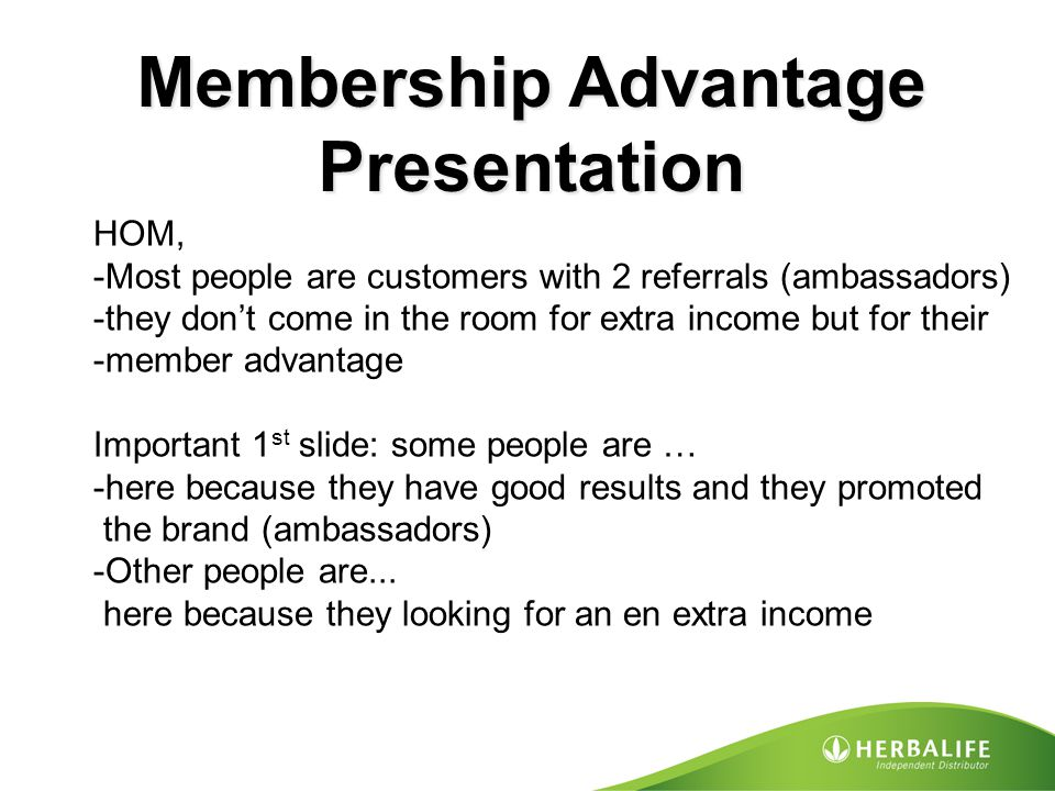 Membership Advantage Presentation