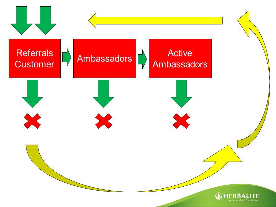 Referrals Customer Ambassadors Active Ambassadors