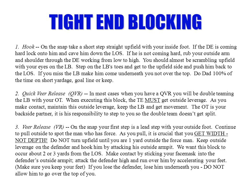 TIGHT END BLOCKING