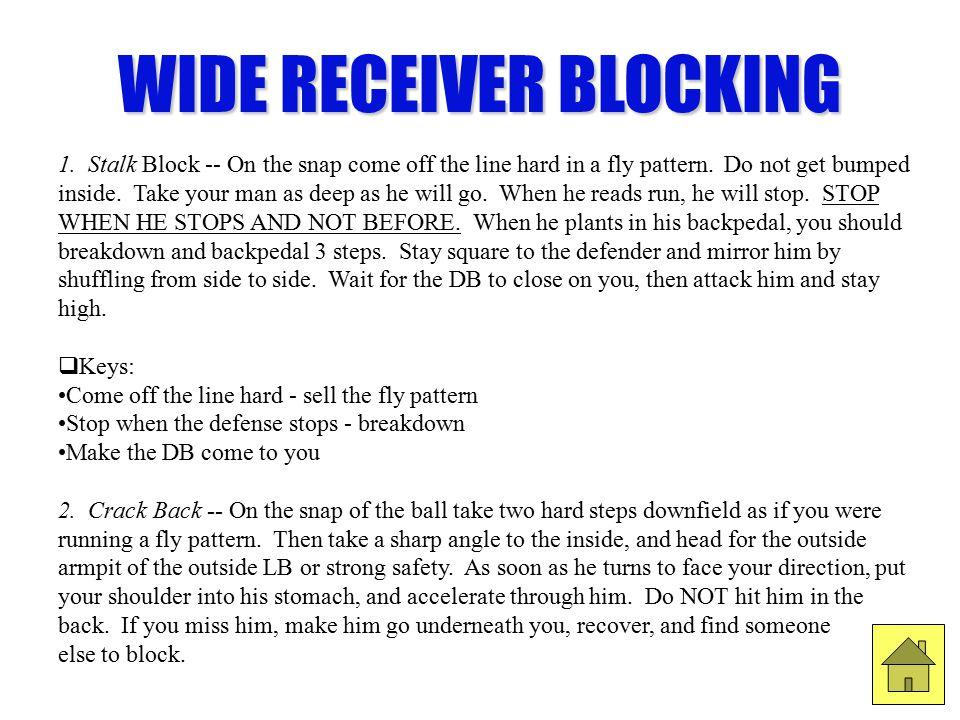 WIDE RECEIVER BLOCKING