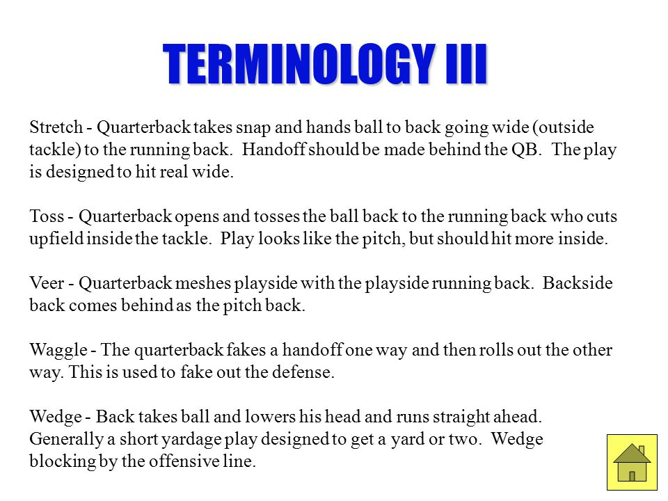 TERMINOLOGY III