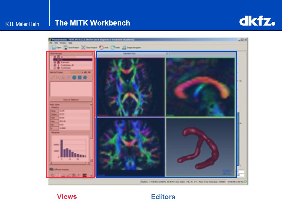 The MITK Workbench Views Editors