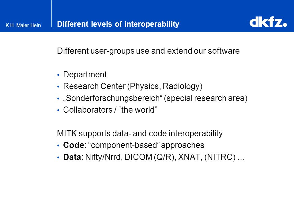 Different levels of interoperability
