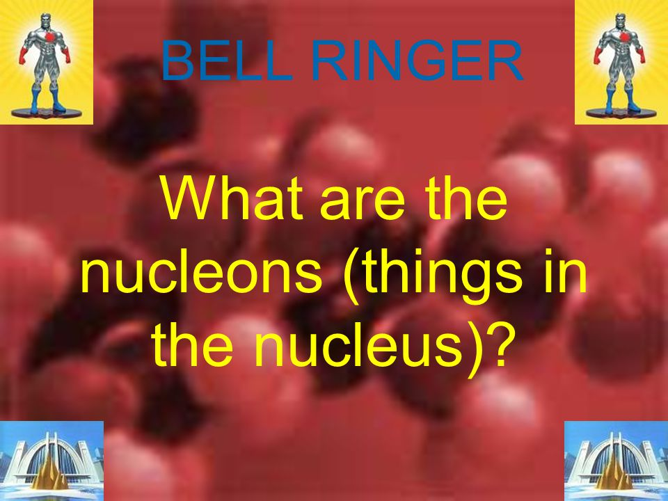 What are the nucleons (things in the nucleus)