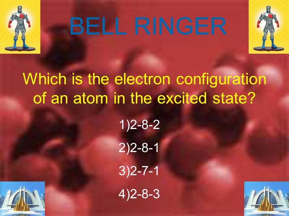 Which is the electron configuration of an atom in the excited state