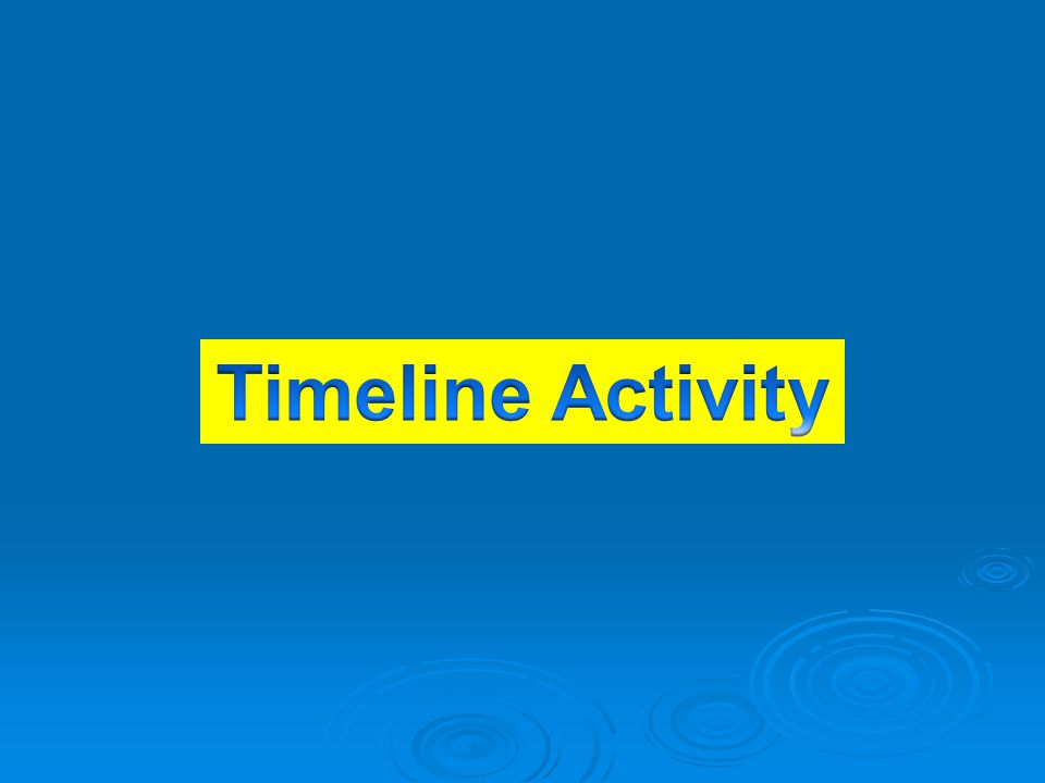 Timeline Activity