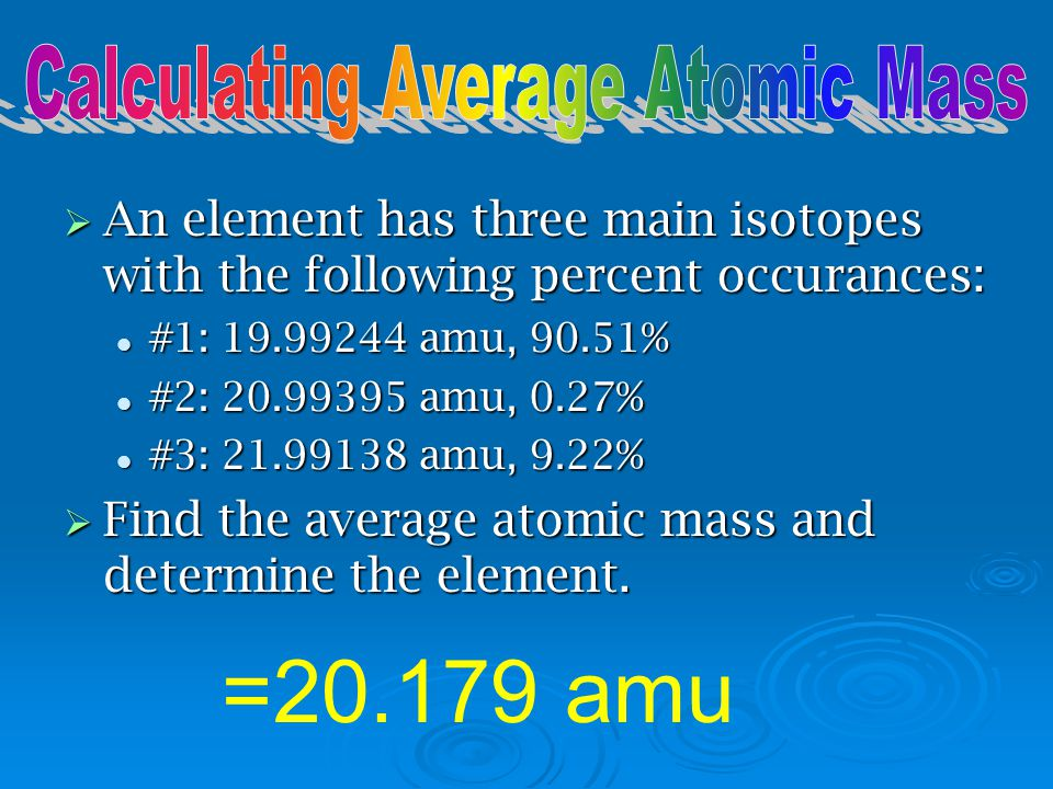 Calculating Average Atomic Mass