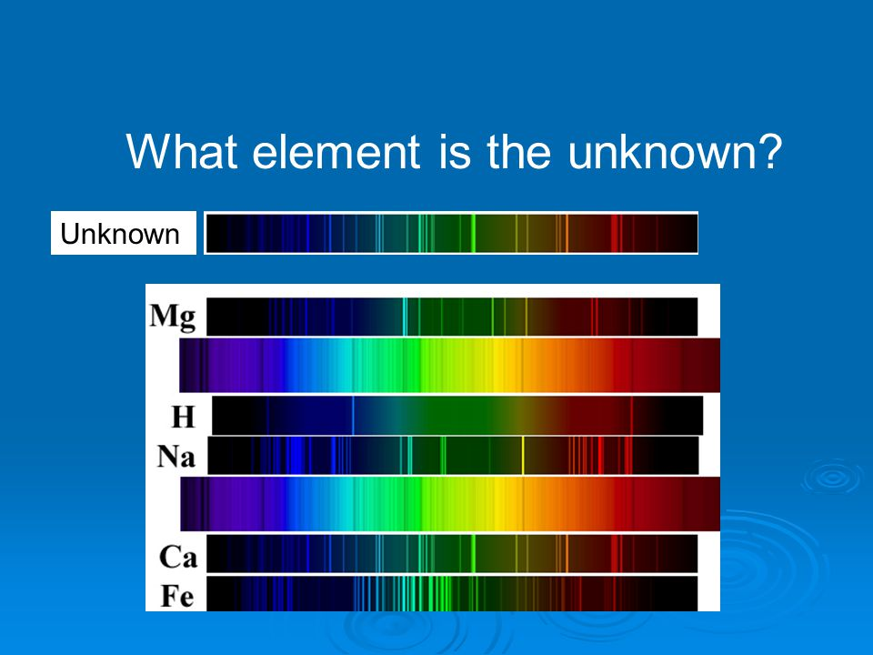 What element is the unknown