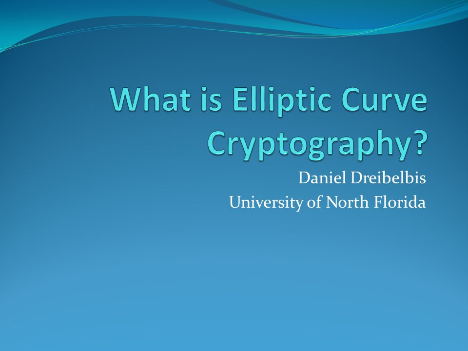 What is Elliptic Curve Cryptography