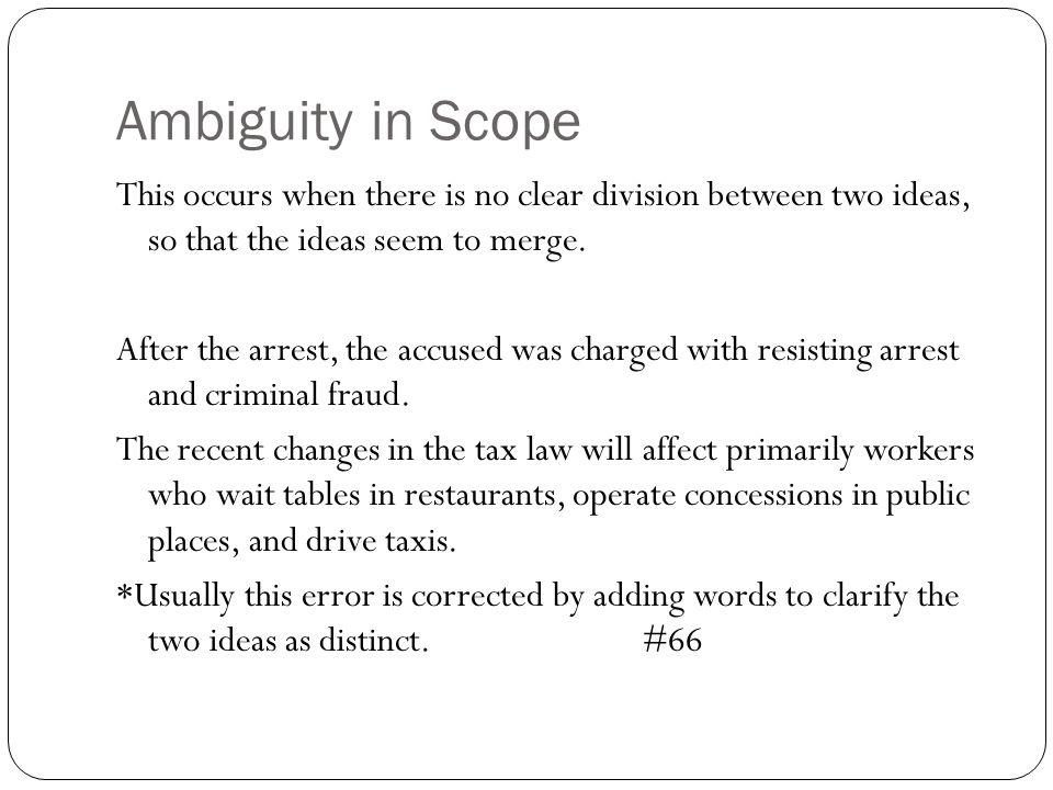 Ambiguity in Scope