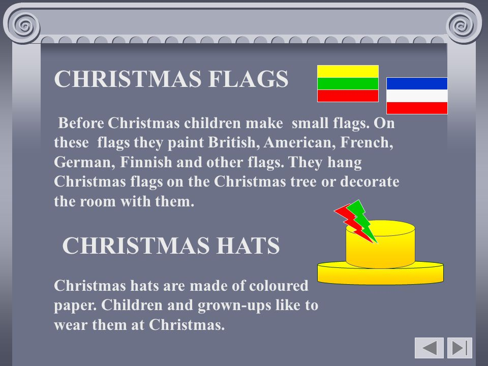 CHRISTMAS FLAGS CHRISTMAS HATS