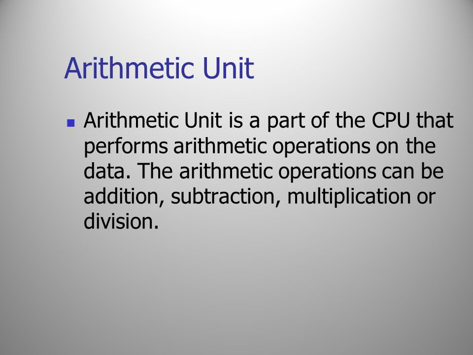 Arithmetic Unit