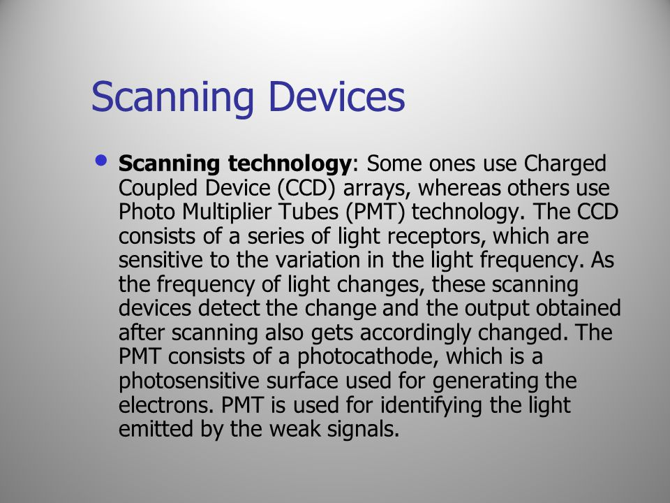 Scanning Devices