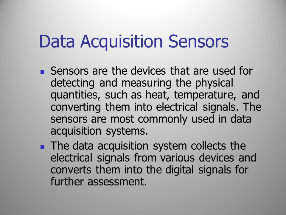 Data Acquisition Sensors
