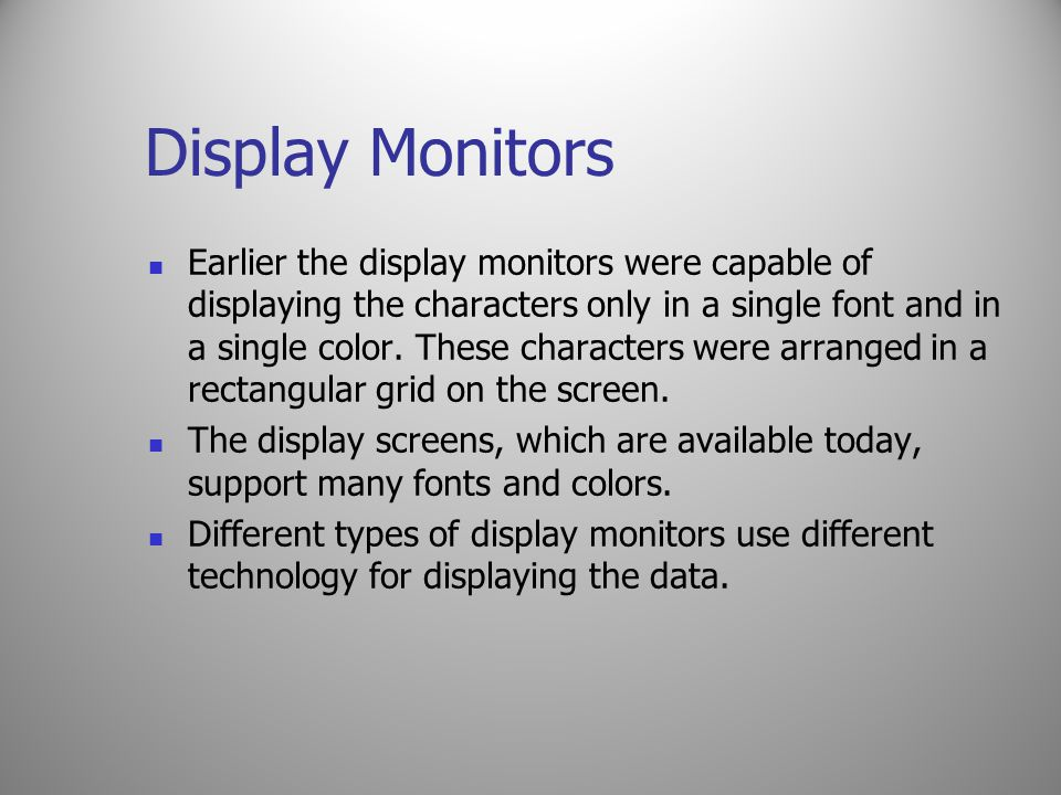 Display Monitors