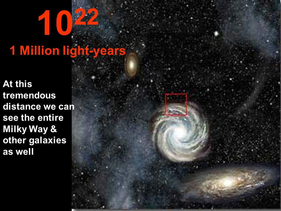 1022 1 Million light-years.