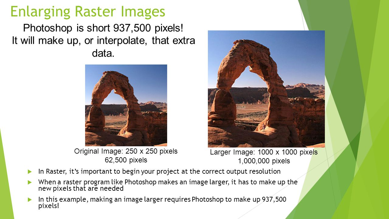 Enlarging Raster Images