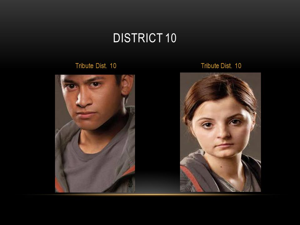 District 10 Tribute Dist. 10 Tribute Dist. 10