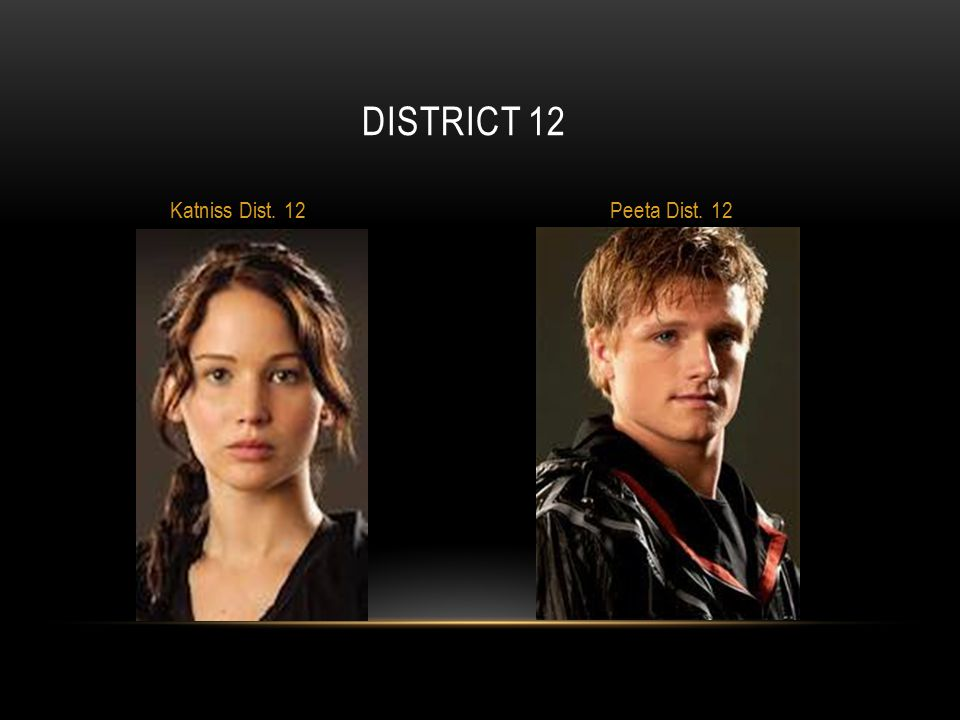 District 12 Katniss Dist. 12 Peeta Dist. 12
