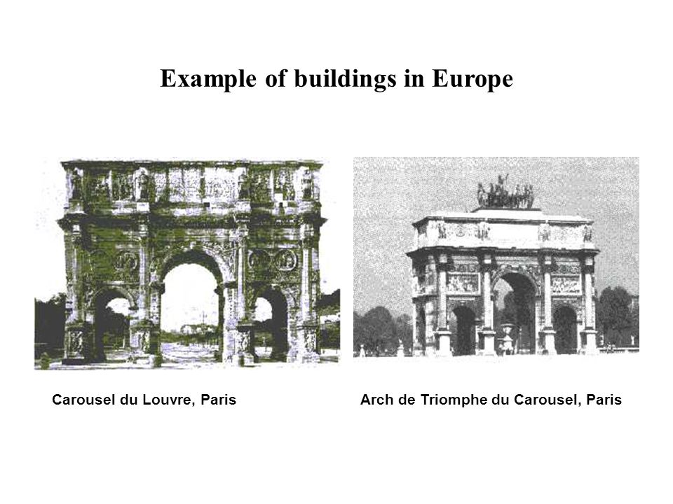 Example of buildings in Europe