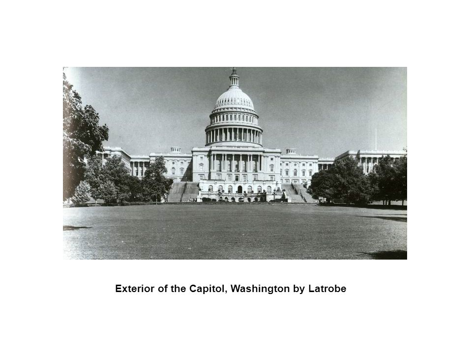 Exterior of the Capitol, Washington by Latrobe