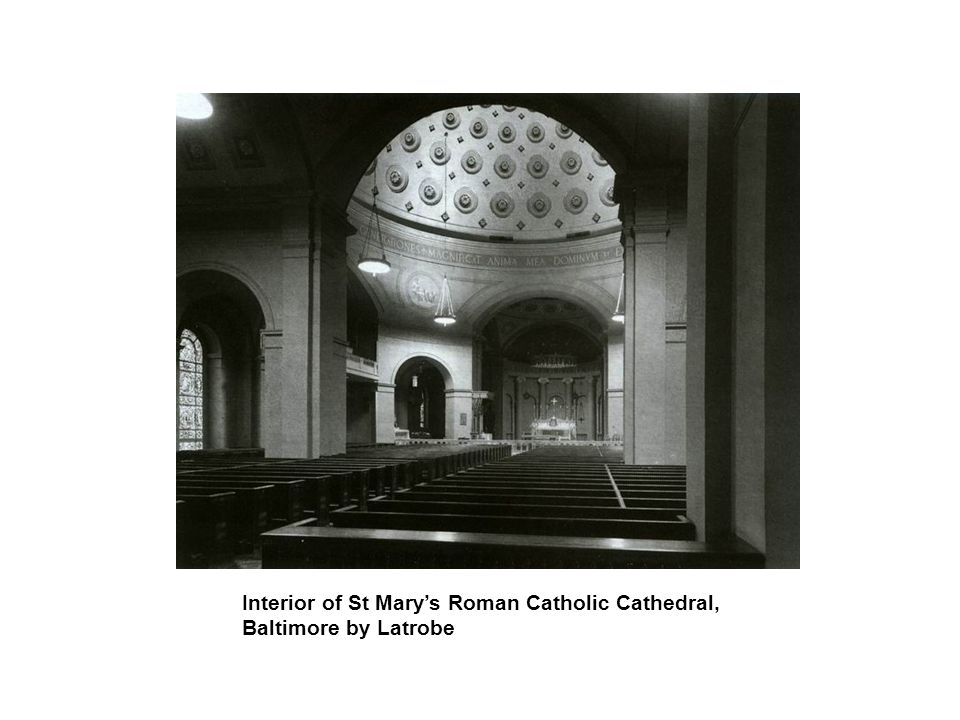 Interior of St Mary's Roman Catholic Cathedral, Baltimore by Latrobe