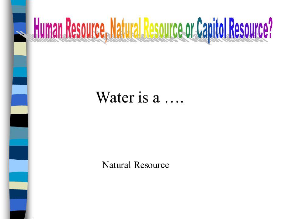 Human Resource, Natural Resource or Capitol Resource