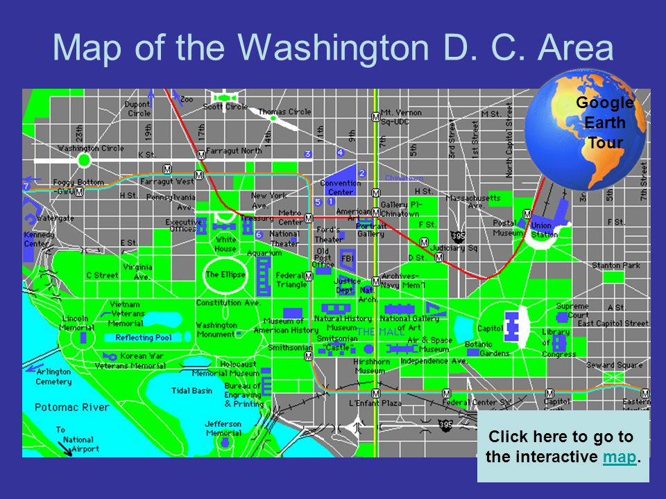 Map of the Washington D. C. Area
