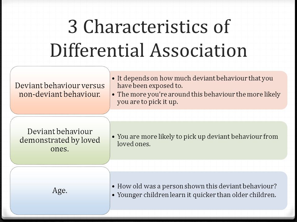 3 Characteristics of Differential Association