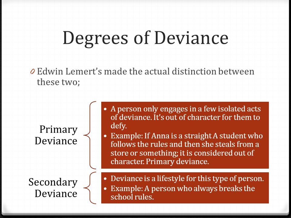 edwin lemert primary and secondary deviance pdf