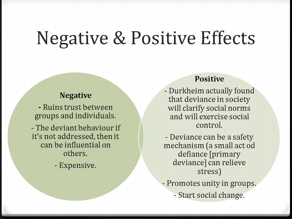 Negative & Positive Effects