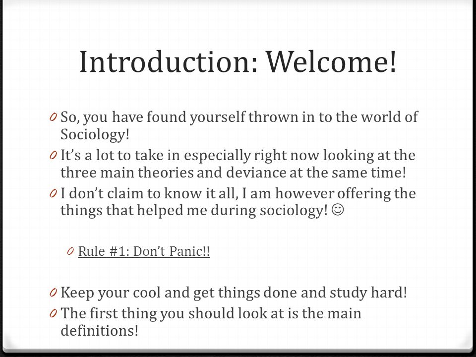 Introduction: Welcome!