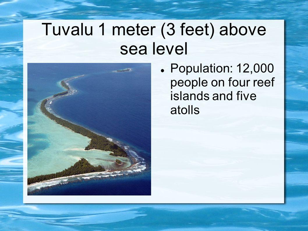 Tuvalu 1 meter (3 feet) above sea level