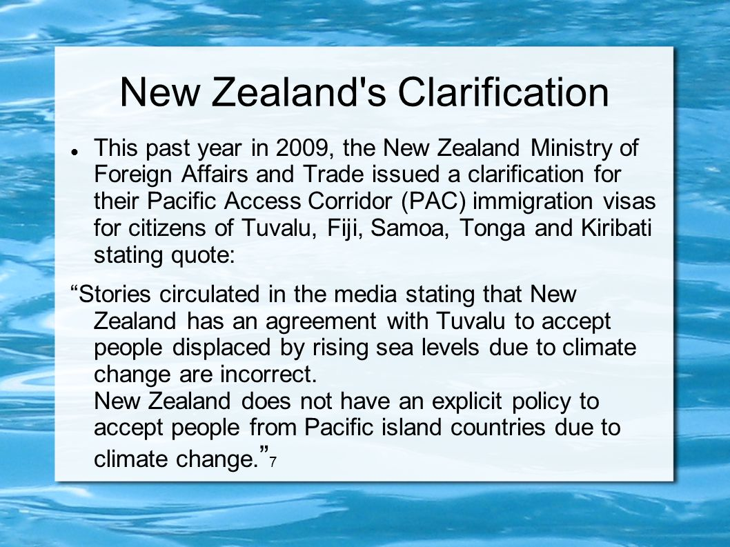 New Zealand s Clarification