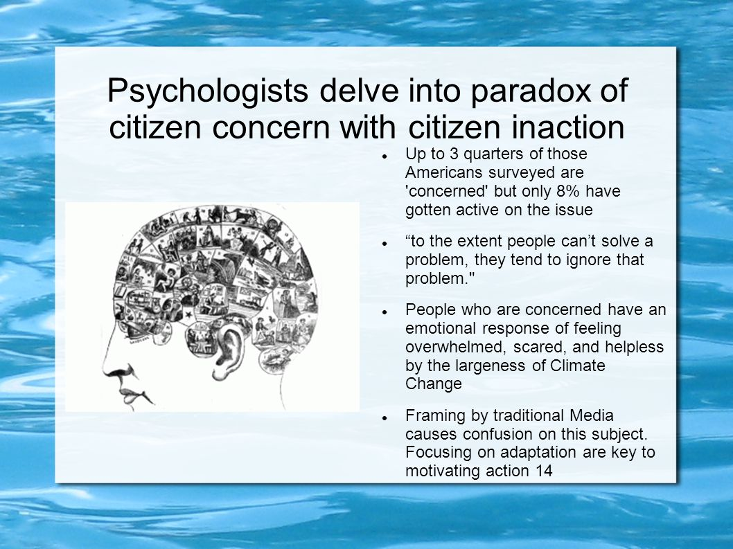 Psychologists delve into paradox of citizen concern with citizen inaction