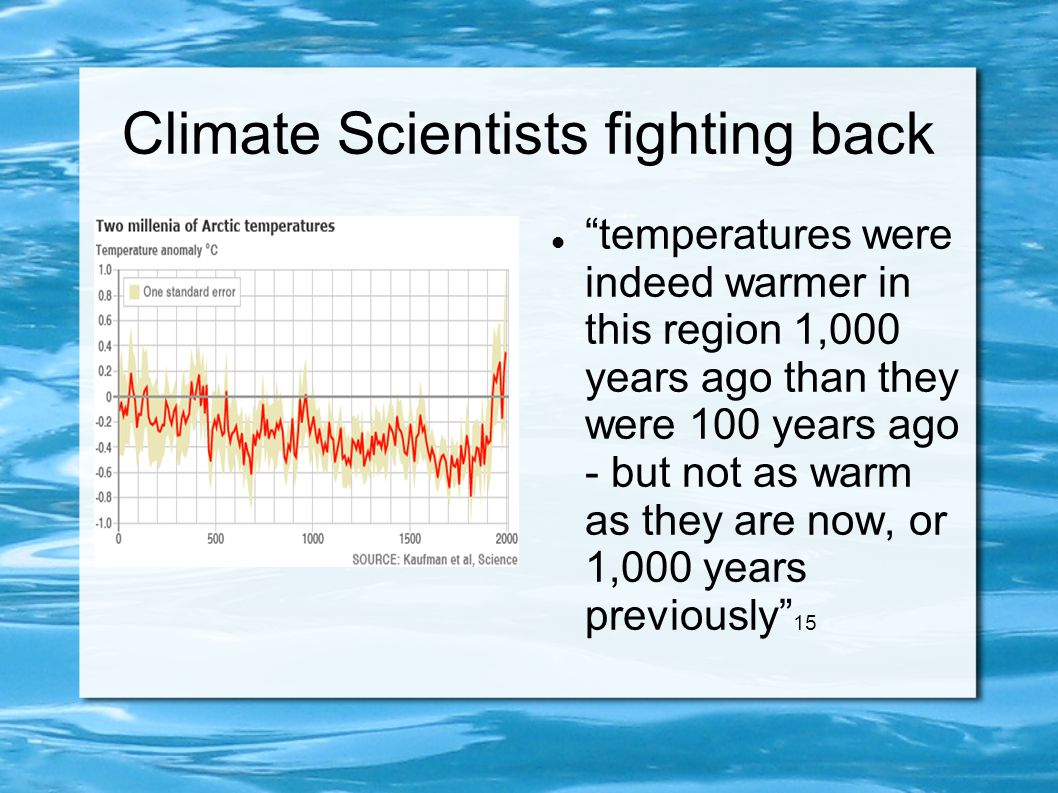 Climate Scientists fighting back