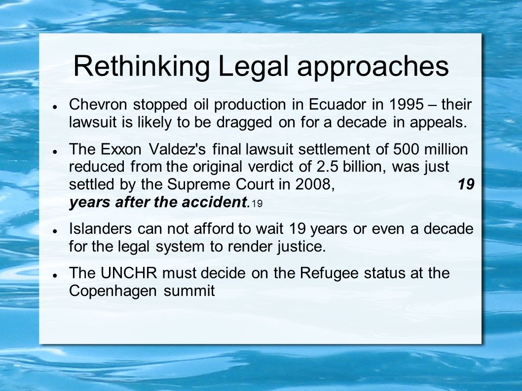 Rethinking Legal approaches