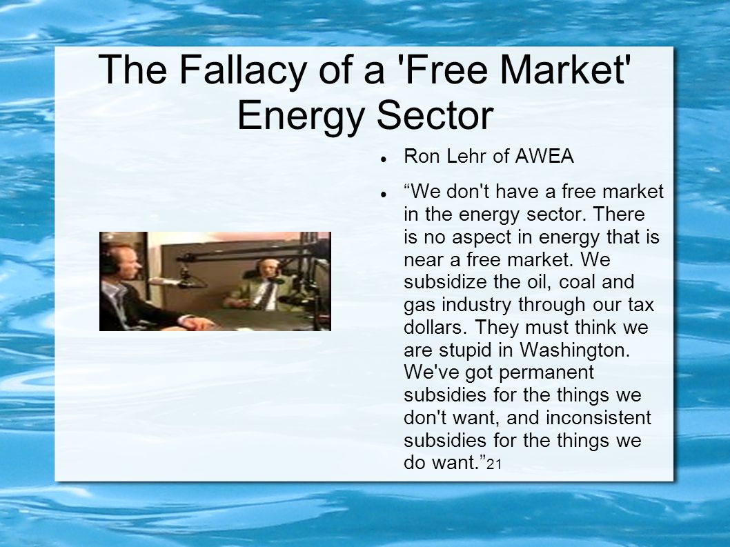 The Fallacy of a Free Market Energy Sector