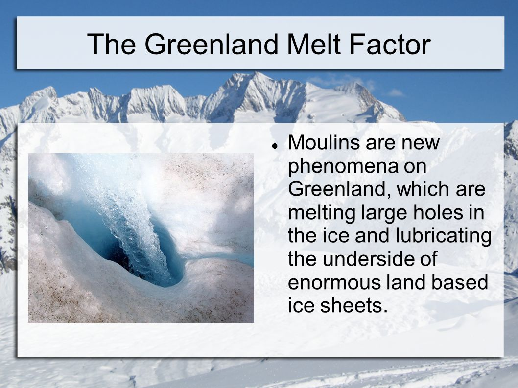 The Greenland Melt Factor