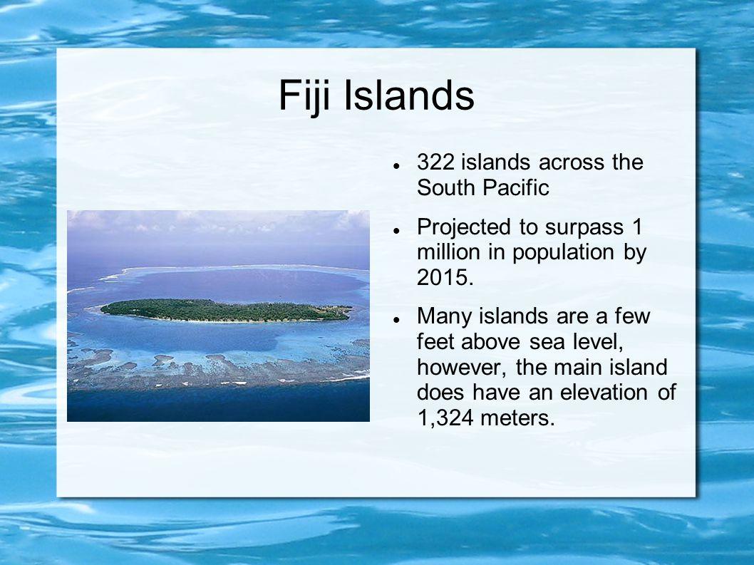 Fiji Islands 322 islands across the South Pacific