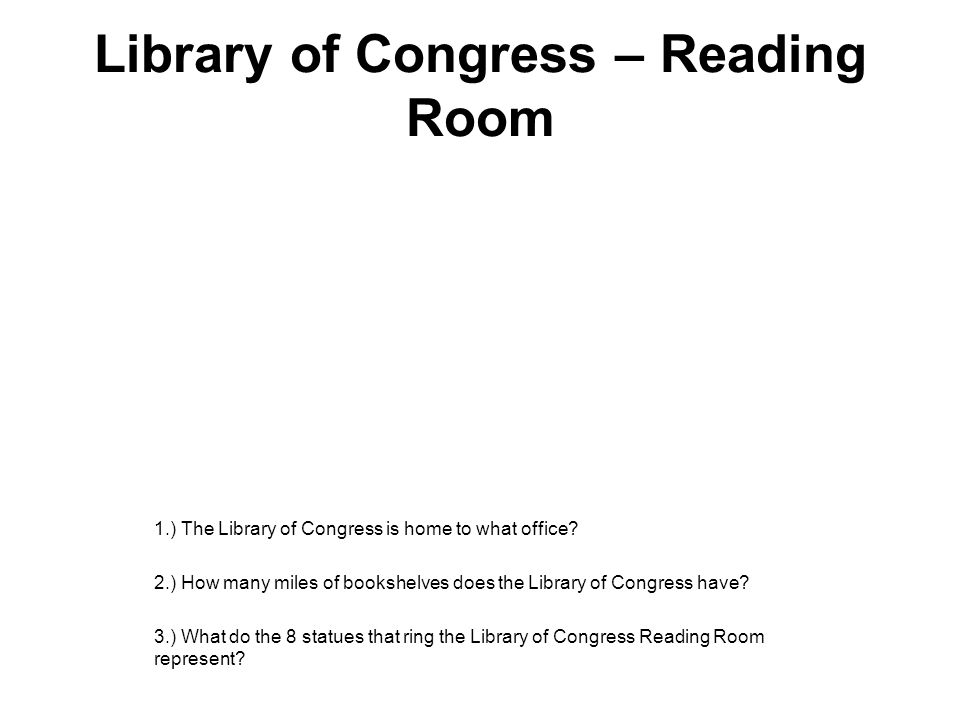 Library of Congress – Reading Room