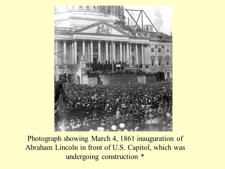 Photograph showing March 4, 1861 inauguration of