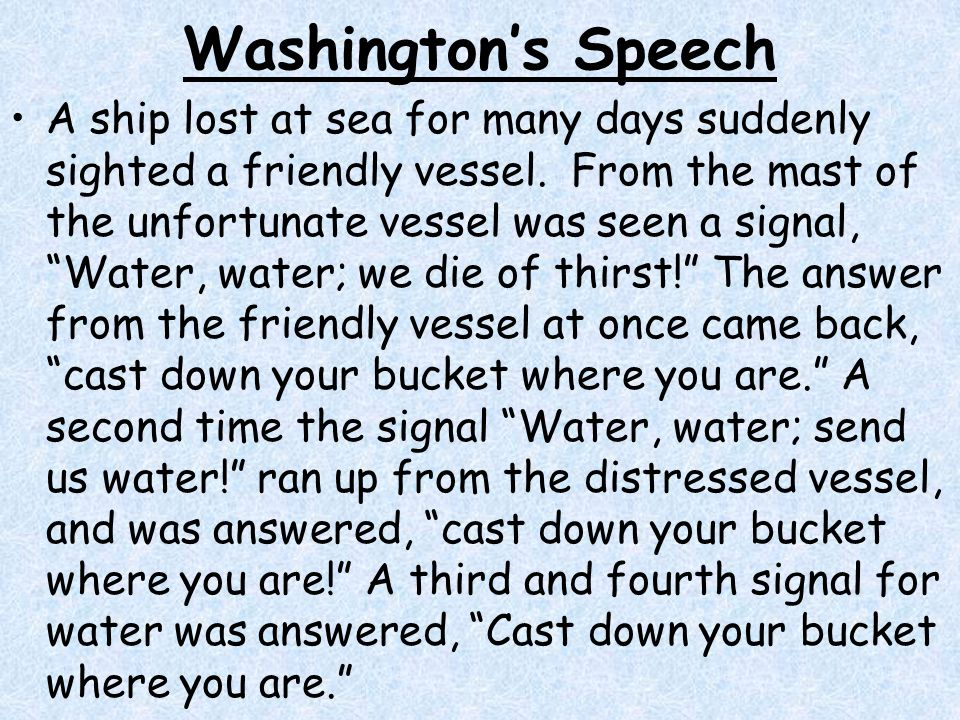 Washington's Speech