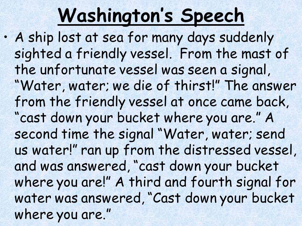 Washington's Speech