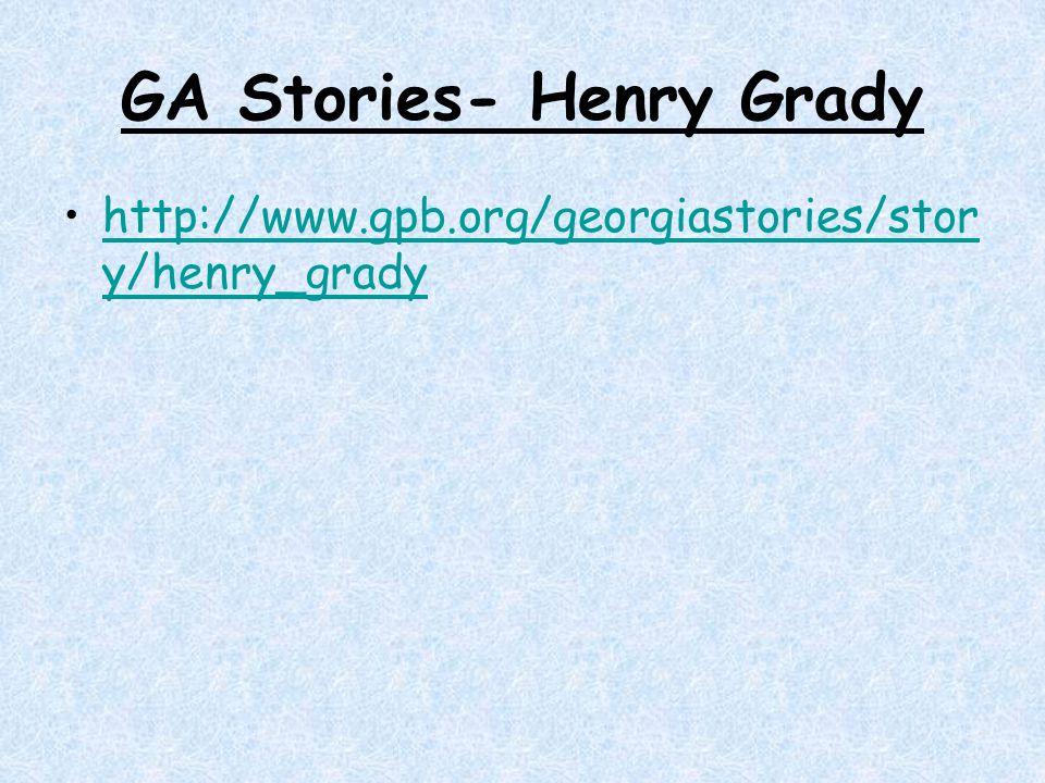 GA Stories- Henry Grady